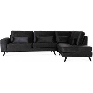 Ranger soffa med öppet avslut höger - Antracitgrå från Skånska Möbelhuset.